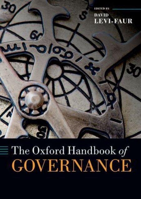 Best PDF The Oxford Handbook of Governance (Oxford Handbooks