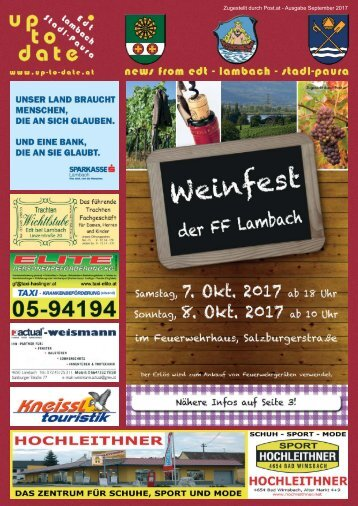 news from edt - lambach - stadl-paura September 2017