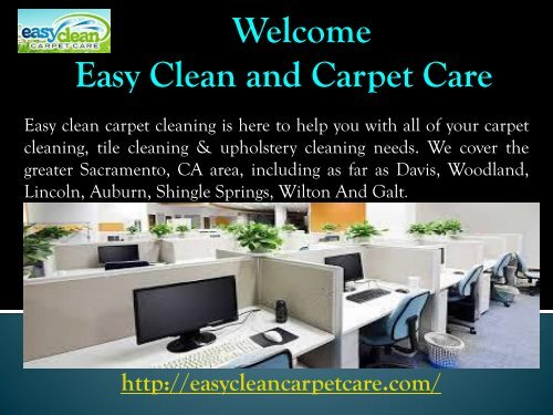 Sacramento Upholstery Cleaning