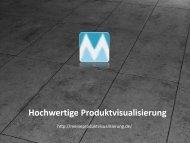 Hochwertige Produktvisualisierung - Meine Produktvisualisierung
