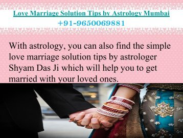 Love Marriage Solution Tips by Astrology Mumbai 9650069881
