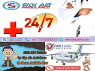 Complete End To End Transportation of the Patient Available Sky Air Ambulance