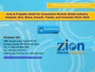 Global Axle & Propeller Shaft For Automotive Market, 2016–2024