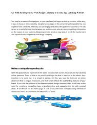 Go With the Responsive Web Design Company to Create Eye Catching Website