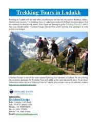 Trekking Tours in Ladakh