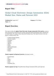 Global Cloud Electronic Design Automation (EDA) Market Size, Status and Forecast 2022