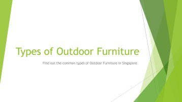 Outdoor Furniture Types