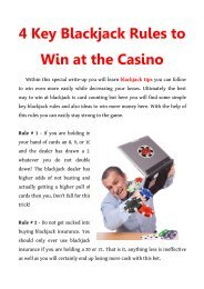 4 Key Blackjack Rules to Win at the Casino