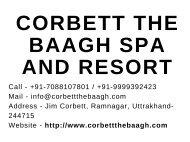 Top 10 Best Luxury Spa Resort and Hotels in Jim Corbett National Park
