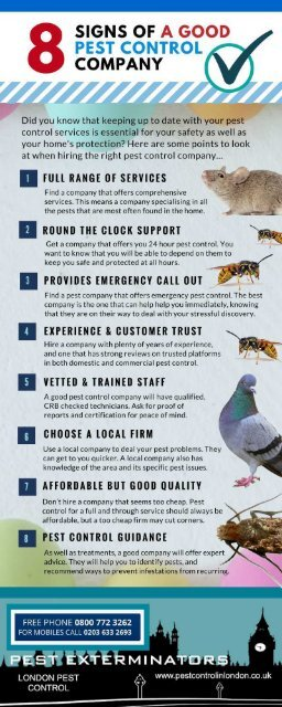 Signs Of A Good Pest Control Service