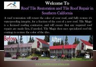 Roof Recycling Service in Orange County, CA