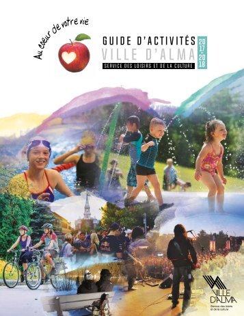 Guide d'activités Ville d'Alma 2017-2018