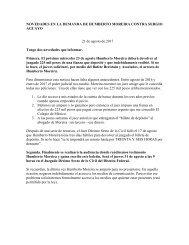 Boletín DEMANDA  MOREIRA vs AGUAYO 21 agosto 2017