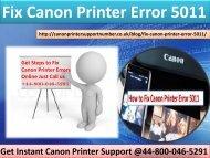 +44-800-046-5291 Fix Canon Printer Error 5011