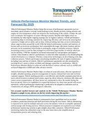 Vehicle Performance Monitor Market