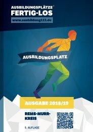 AUSBILDUNGSPLÄTZE - FERTIG - LOS |Rems-Murr-Kreis 2018/19