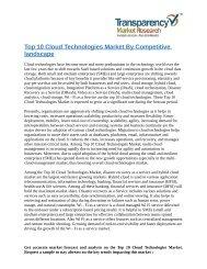 Top 10 Cloud Technologies Market