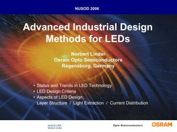 Advanced Industrial Design Methods for LEDs - nusod