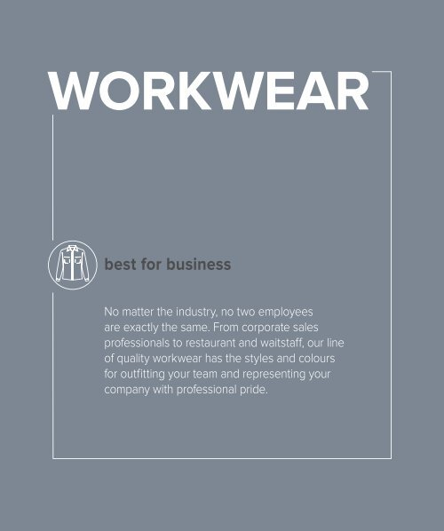 Corporate clothing and lounge shirts