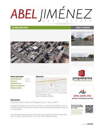 PDF Edificio de Dos Niveles Amplio Estacionamiento Vocacion Comercial Frente A Delegacion Zona Centro Tijuana Venta Renta JMS Propiedades Lic Abel Jimenez Inmuebles de Oportunidad