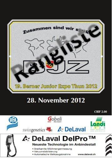 Rangliste Berner Junior Expo 2012 - Schweizerbauer.ch