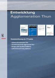 Gesamtverkehrsstudie Agglomeration Thun