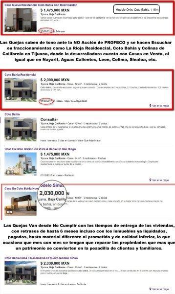 Coto Bahia Colinas de California Precio Inflado de la misma Propiedad Efecto INFONAVIT incremento linea de credito