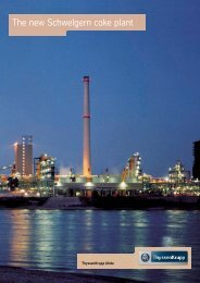The new Schwelgern coke plant