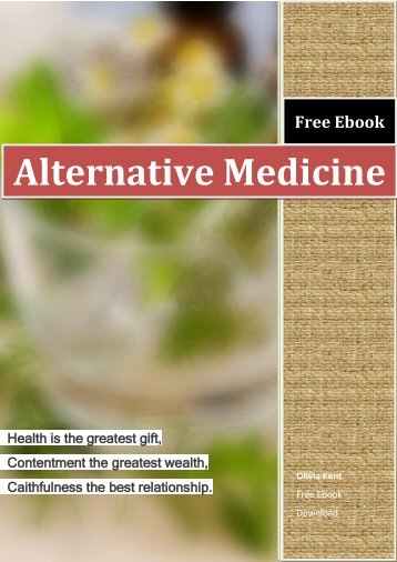 Alternative Medicine Free Ebook