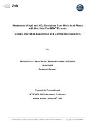 Abatement of N2O and NOx  from Nitrid Acid Plants ... - Uhde GmbH