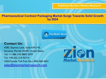 Global Pharmaceutical Contract Packaging Market, 2016–2024