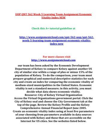 Policy Memo on City of Kelsey