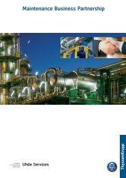 Maintenance business partnership.qxp - Uhde GmbH