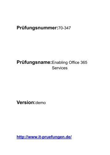 it-pruefungen 70-347 Enabling Office 365 Services