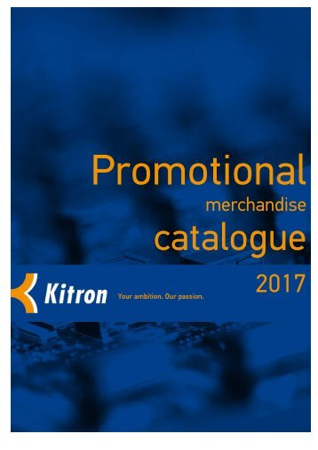 2017_Promotional merchandise catalogue