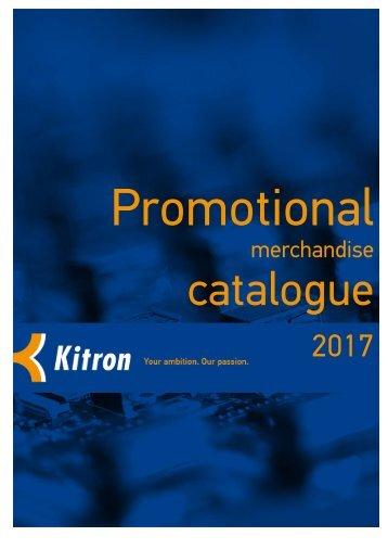 2017_Promotional merchandise catalogue