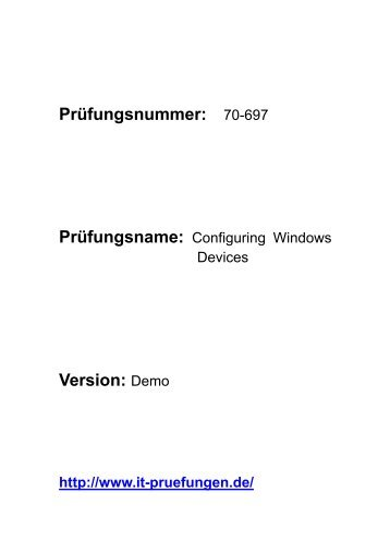 it-schulungen 70-697 Configuring Windows Devices