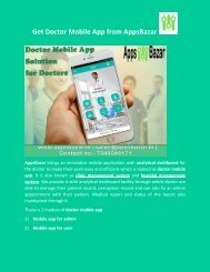 Get Doctor Mobile App from AppsBazar