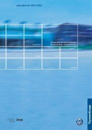 Jahresbericht 2001/2002 - Uhde GmbH