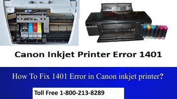 How To Fix 1401 Error in Canon inkjet printer