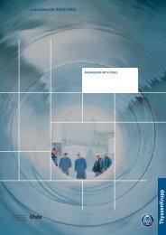 Jahresbericht 2002/2003 - Uhde GmbH
