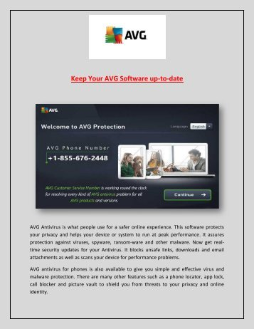 Call AVG Online Tech Support Number +1-855-676-2448