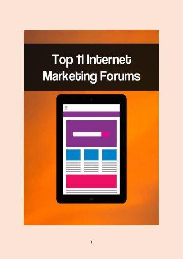 Top 11 Internet Marketing Forums