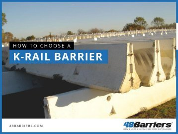 Things to Consider before Buying K-Rail Barriers