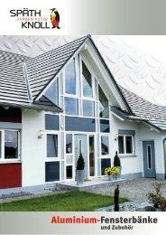 Späth Knoll – Aluminium-Fensterbänke und Zubehör