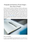Paragraph and Sentences Word Changer – How Does it Work? - Page 2