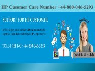 HP Customer Care Number +44-800-046-5293