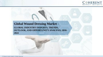 Wound Dressing Market – Global Industry Insights,Trends, Analysis and Forecast till 2024