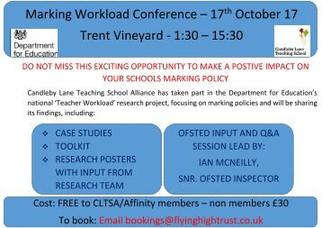 Marking Workload Conference - final poster - non mebers