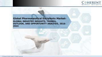 Global Pharmaceutical Excipients Market to Surpass US$ 9.8 Billion by 2024